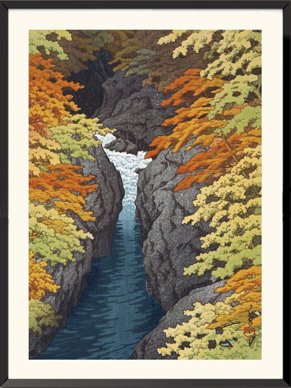 Estampe La Gorge d'Azuma de Kawase Hasui