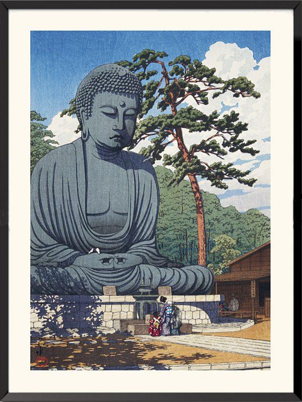 Estampe Le Grand Bouddha de Kamakura de Kawase Hasui