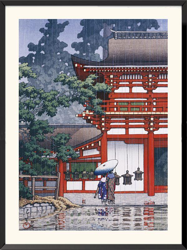 Estampe Le Sanctuaire de Kasuga à Nara de Kawase Hasui