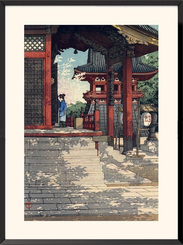 Estampe Temple de Fudo à Meguro de Kawase hasui