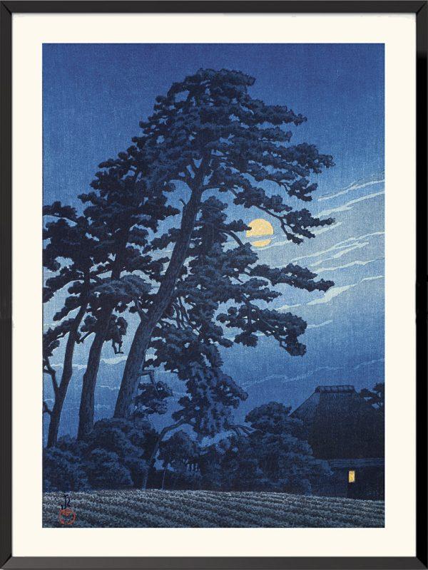 Estampe Lune à Umagome de Kawase hasui