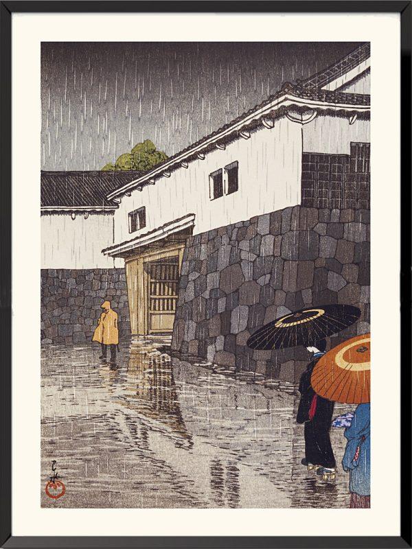 Estampe Uchiyamashita à Okayama de Kawase Hasui