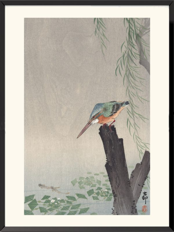 Estampe Martin-pêcheur de Ohara Koson