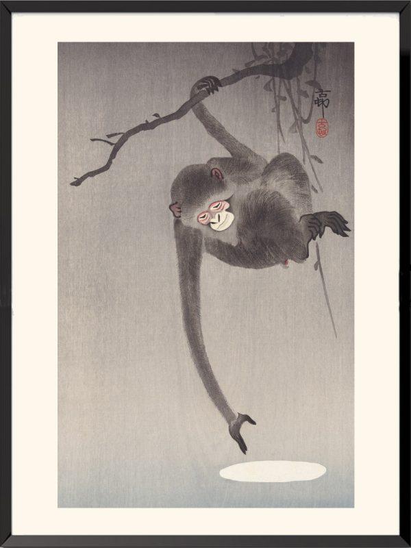 Estampe Singe de Ohara Koson