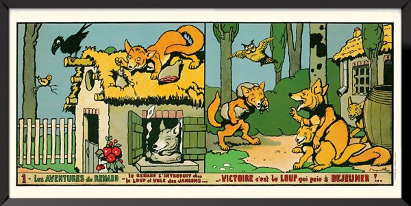 Illustration 1, Les aventures de renard de Benjamin Rabier