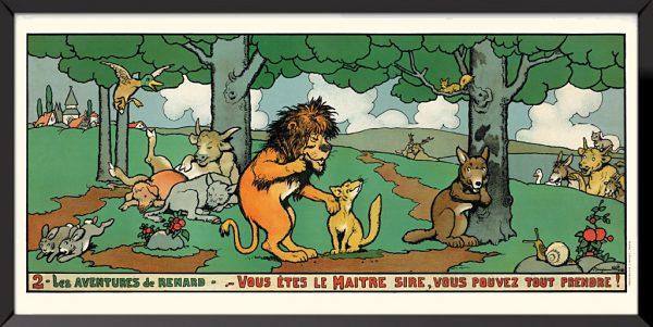 Illustration 2, Les aventures de renard de Benjamin Rabier