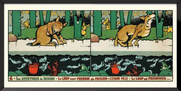 Illustration 4, Les aventures de renard de Benjamin Rabier