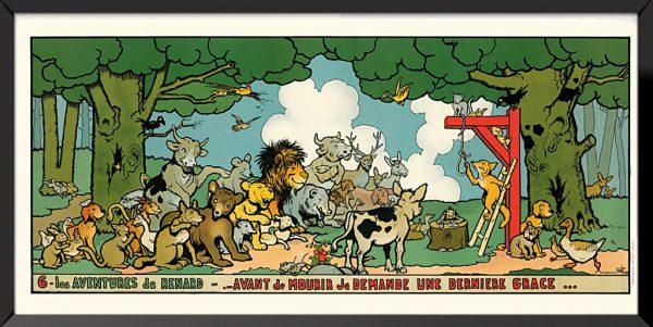 Illustration 6, Les aventures de renard de Benjamin Rabier