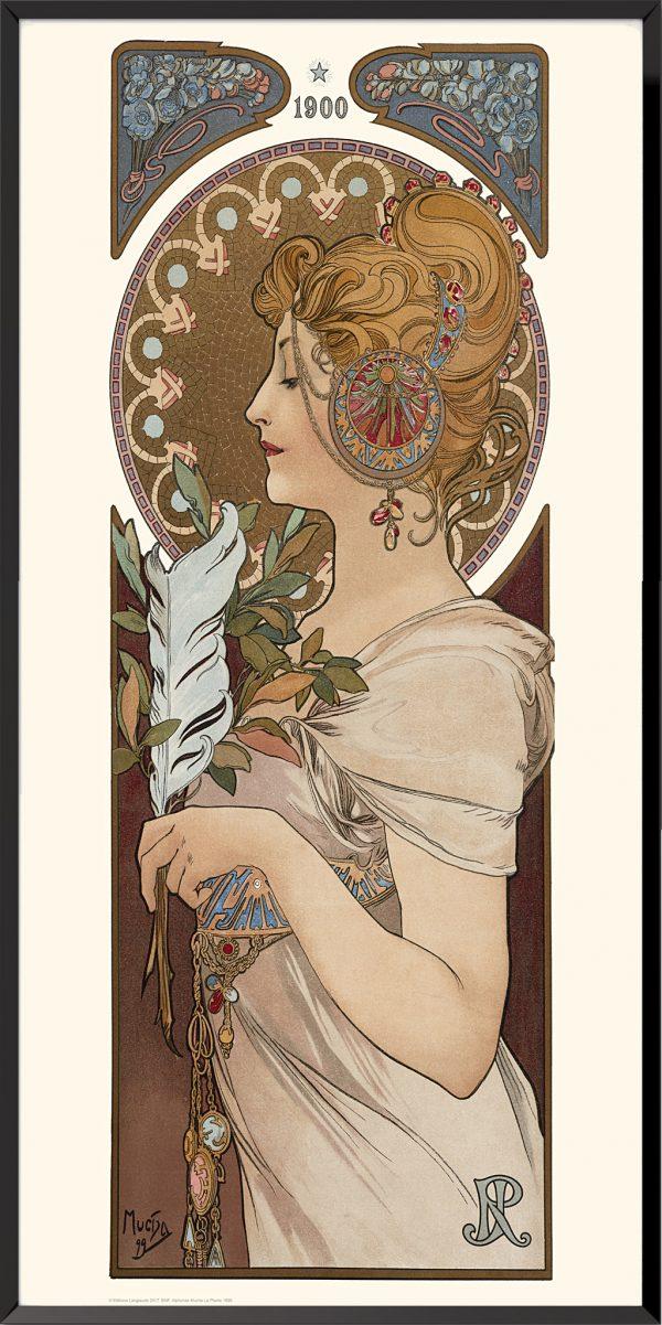 Illustration La Plume d'Alphonse Mucha