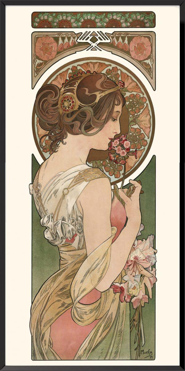 Illustration Primevère d'Alphonse Mucha