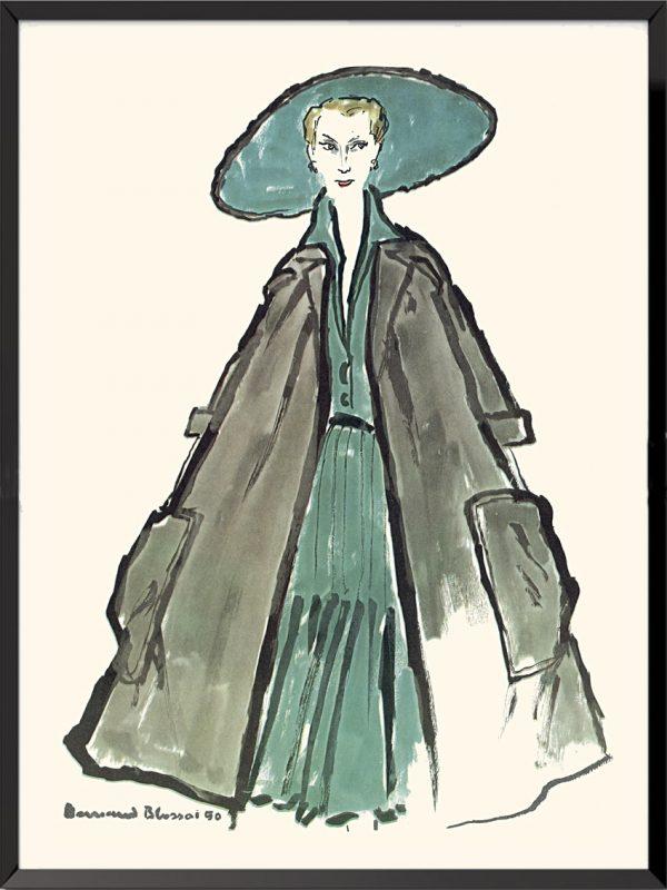 Illustration Christian Dior 1950 de Bernard Blossac