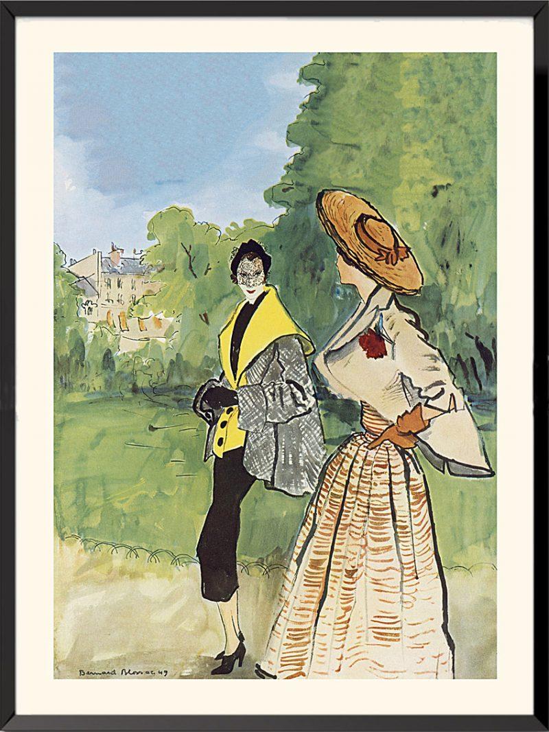 Illustration Christian Dior et Jacques Fath, 1949 de Bernard Blossac