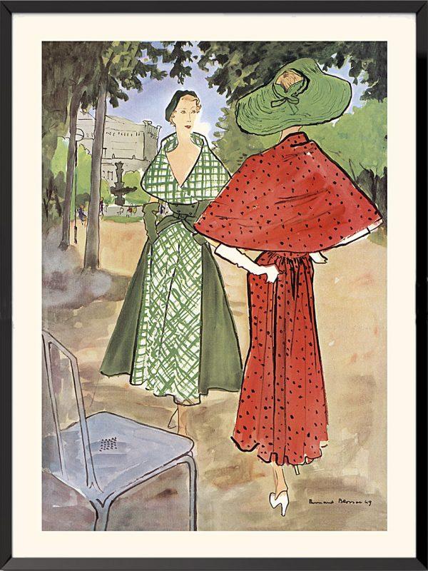 Illustration Elsa Schiaparelli et Jacques Fath, 1949 de Bernard Blossac