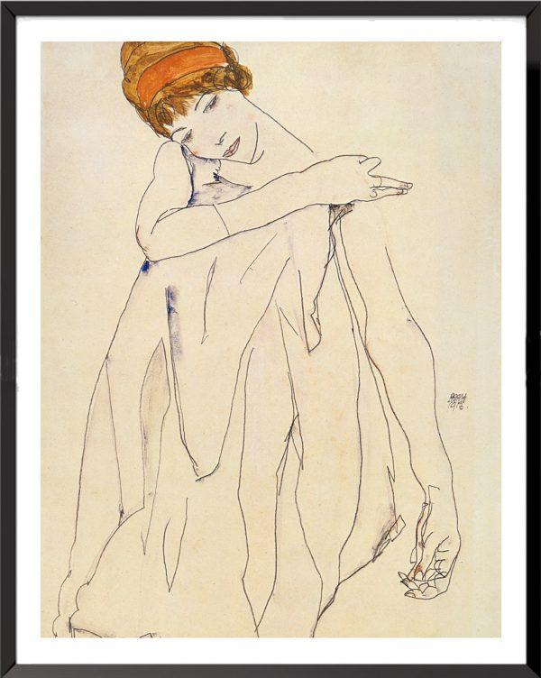 Illustration La danseuse, 1913 de Egon Schiele
