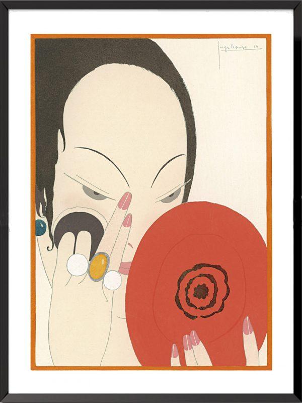 Illustration Le miroir rouge, 1914 de Georges Lepape