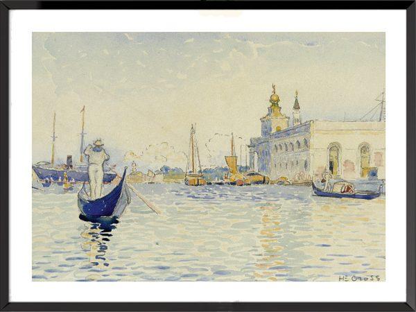 Illustration Venise, la Dogana vue du Grand canal de Henri-Edmond Cross