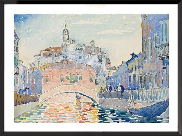 Illustration Canal à Venise d'Henri-Edmond Cross