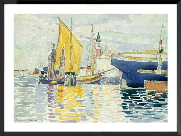 Illustration Venise, La Guidecca de Henri-Edmond Cross