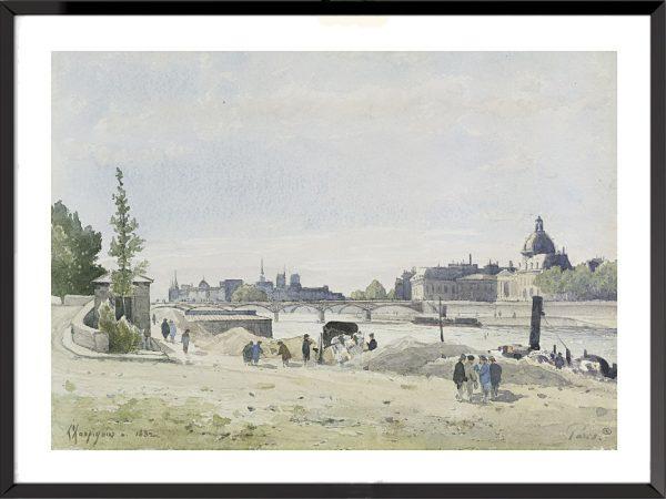 Illustration Vue de Paris d'Henri-Joseph Harpignies