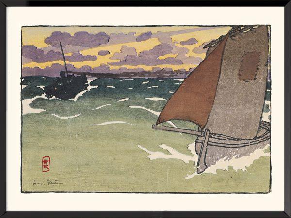 Illustration Barque-et-steam-boat d'Henri Rivière