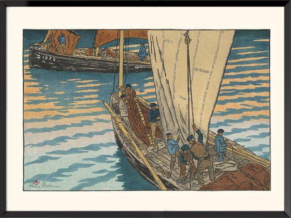 Illustration Départ des bateaux à Tréboul d'Henri Rivière