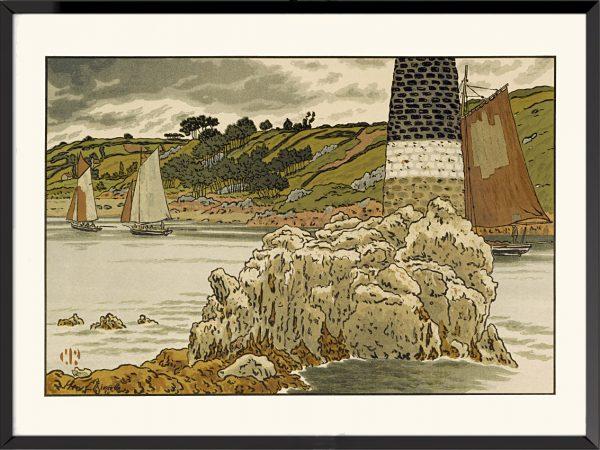 Illustration La Balise sur le Trieux d'Henri Rivière