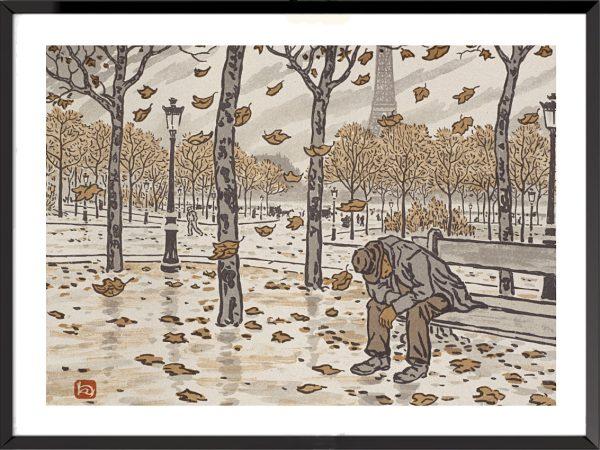 Illustration La Tour Eiffel, frontispice – 1, d'Henri Rivière