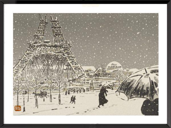Illustration La Tour Eiffel, frontispice – 2, d'Henri Rivière