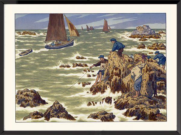 Illustration Les Mousses d'Henri Rivière