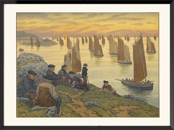 Illustration Les Vieux d'Henri Rivière