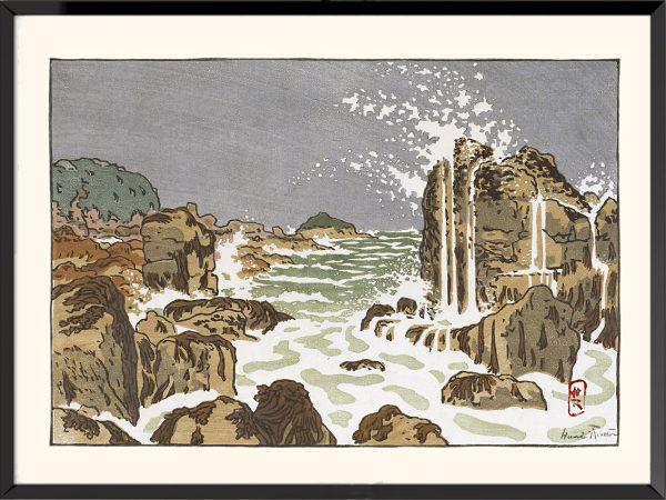 Illustration Petite vague montante (pointe de La Haye d'Henri Rivière