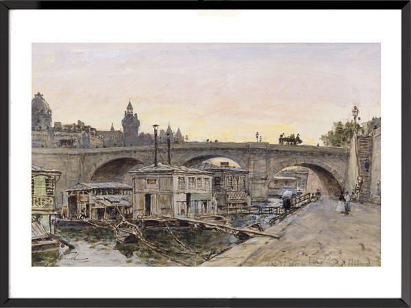 Illustration Vue des quais de la Seine à Paris de Johan Barthold Jongkind (2)