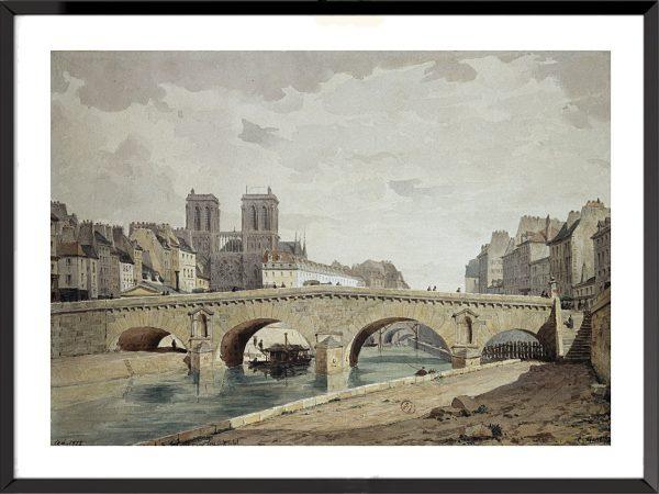 Illustration Paris, Le vieux pont Saint-Michel de Louis-Martial-Théodat Masson