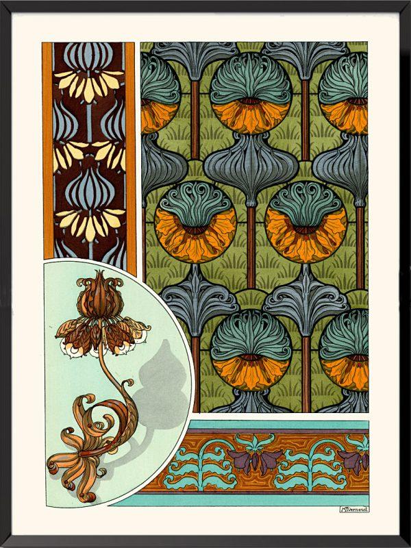 Illustration La plante et ses applications ornementales, 1896, Butomes en ombelle de Maurice Pillard-Verneuil