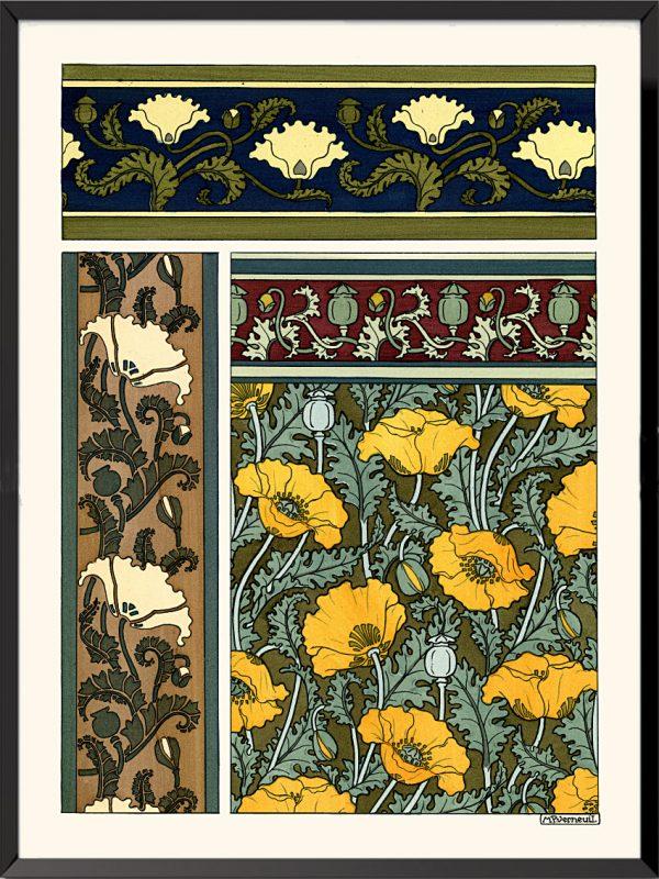 Illustration La plante et ses applications ornementales, 1896, Coquelicots de Maurice Pillard-Verneuil