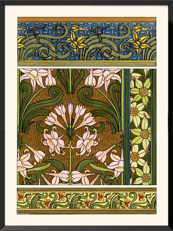 Illustration La plante et ses applications ornementales, 1896, Fritillaires impériales de Maurice Pillard-Verneuil
