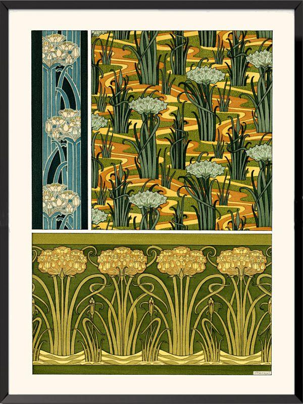 Illustration La plante et ses applications ornementales, 1896, Jonquilles de Maurice Pillard-Verneuil