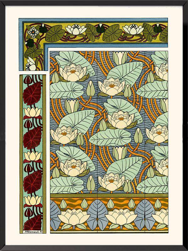 Illustration La plante et ses applications ornementales, 1896, Nénuphars de Maurice Pillard-Verneuil