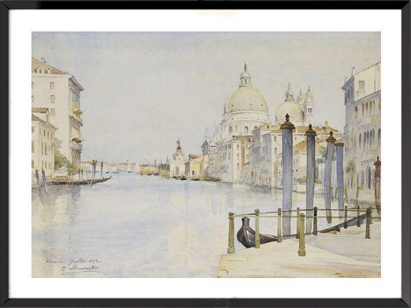Illustration Vue de Venise de Paul Dusart