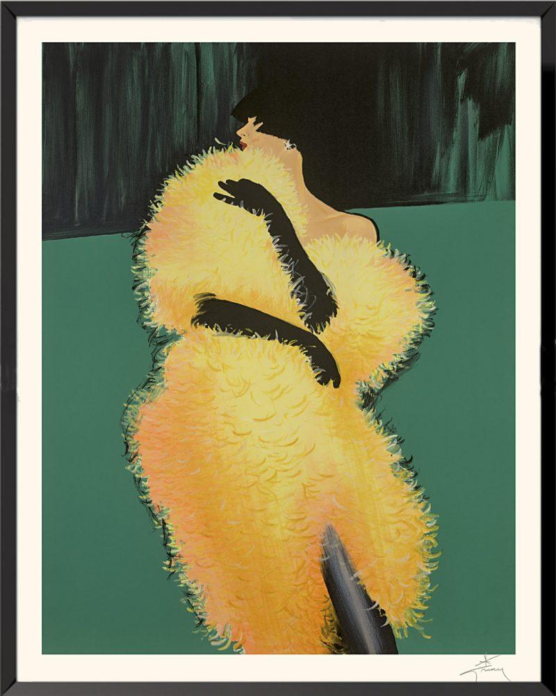 Illustration Le boa jaune de René Gruau