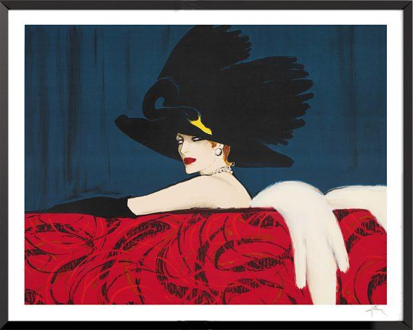 Illustration Leda de René Gruau