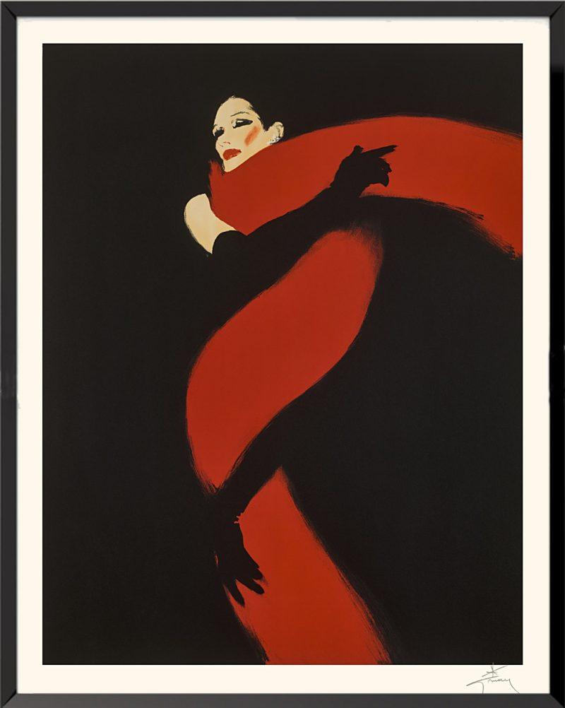 Illustration Rouge et Noir de René Gruau