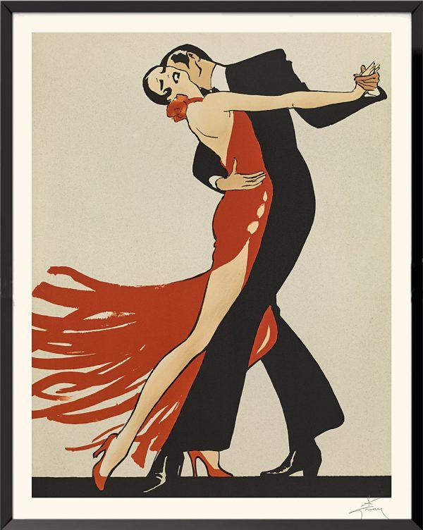 Illustration Tango de René Gruau