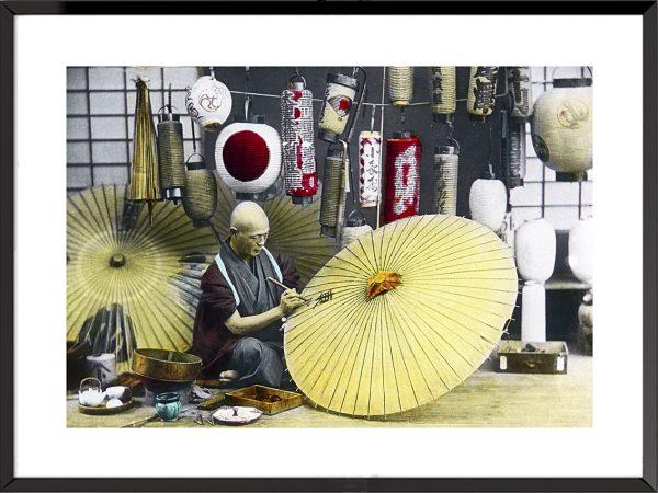Le Japon ancien, l'ère Meiji Fabricant d'ombrelles (1900-1910)