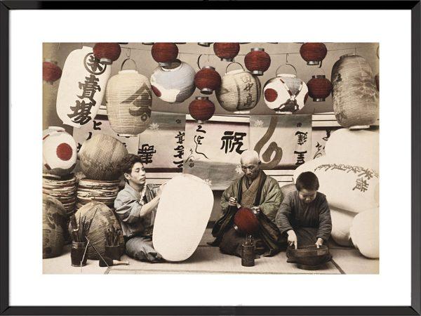 Photo Le Japon ancien, l'ère Meiji Fabricants de lanternes (1870-1880)
