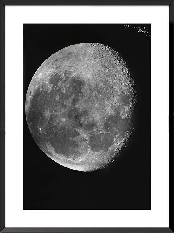 Photo Les clichés de la lune, 13 août 1900 de Loewy et Puiseux