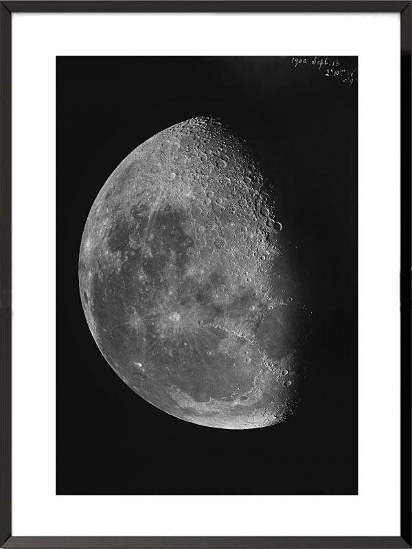 Photo Les clichés de la lune, 13 spetembre 1900 de Loewy et Puiseux