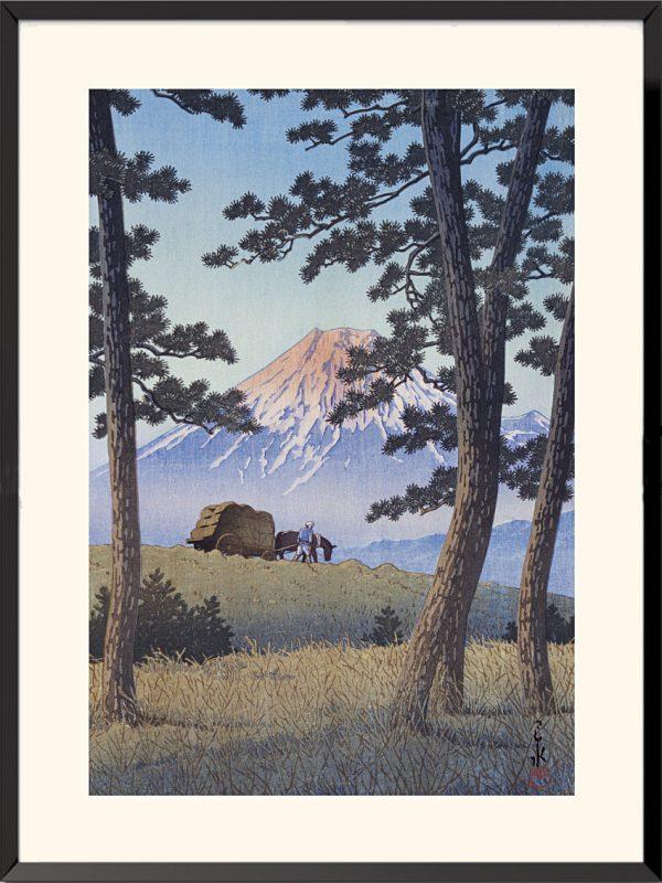 Estampe Japon, Crépuscule à Tagonoura, 1940 de Kawase Hasui
