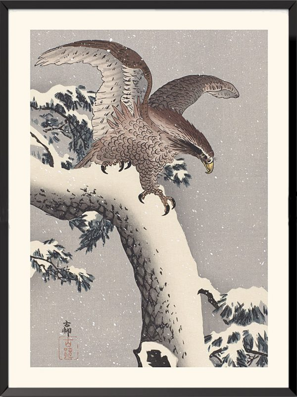 Estampe Aigle de Ohara Koson