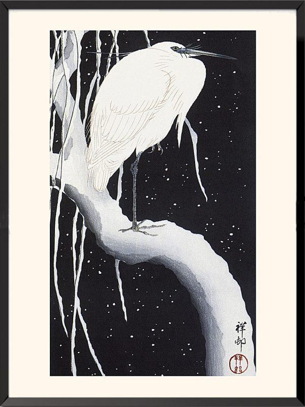 Estampe Aigrette de Ohara Koson
